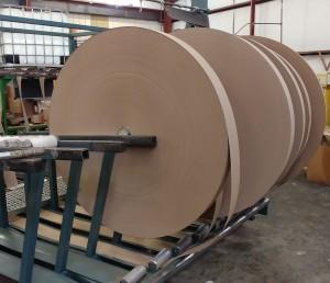 Rolls of raw paper