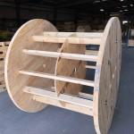Large wooden reel