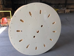 "65"" wooden flange with acrylic outer covering"