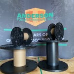 four plastic reels with fiberboard and plastic cores
