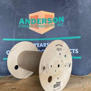 plywood reel with print