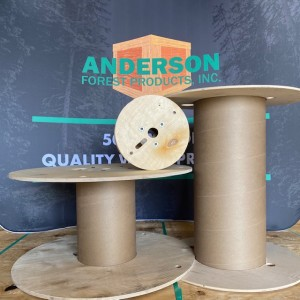 three plywood reels