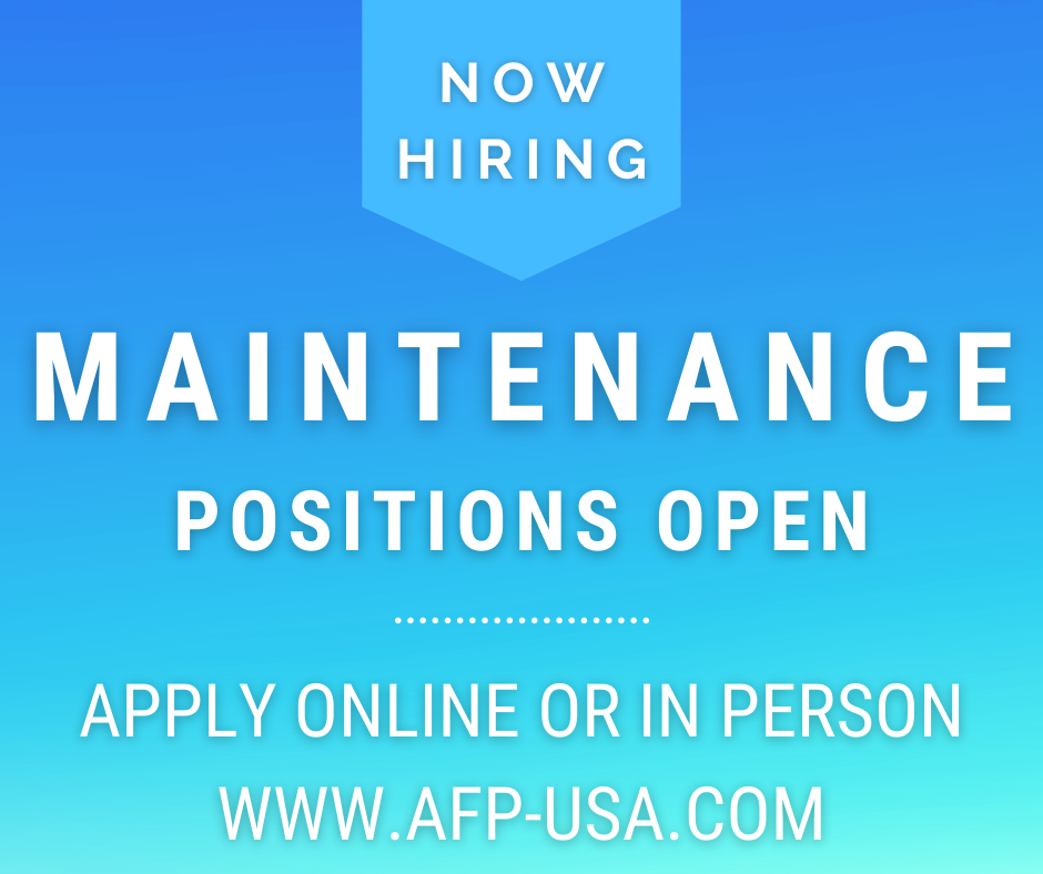 Maintenance Positions Available